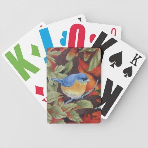 Pájaro azul baraja de cartas