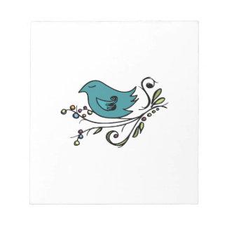 Pájaro azul blocs de notas