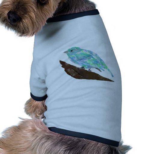 Pájaro azul camisa de mascota