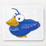 Pájaro azul de la felicidad alfombrilla de ratón