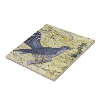 Pájaro azul de la felicidad azulejo cuadrado pequeño