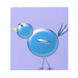 Pájaro azul de la felicidad… libretas para notas