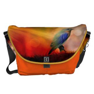 Pájaro azul de la felicidad bolsa de mensajeria