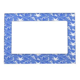 Pájaro azul de la felicidad/de los pájaros azules marcos magnéticos para fotos
