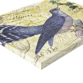 Pájaro azul de la felicidad impresiones en lona estiradas