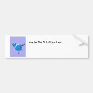 Pájaro azul de la felicidad… pegatina para auto