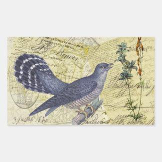 Pájaro azul de la felicidad pegatina rectangular