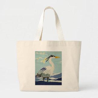Pájaro azul de la garza bolsa