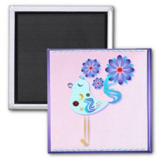 Pájaro azul de la primavera del imán de la felicid