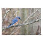 Pájaro azul del Bluebird en árbol Mantel Individual