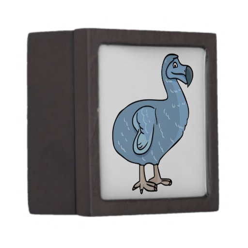 Pájaro azul del Dodo del dibujo animado Caja De Joyas De Calidad