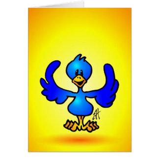 Pájaro azul del gorjeo tarjeta de felicitación