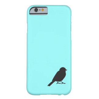 Pájaro azul elegante del trago de la silueta del funda de iPhone 6 slim