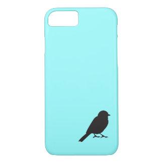 Pájaro azul elegante del trago de la silueta del funda iPhone 7