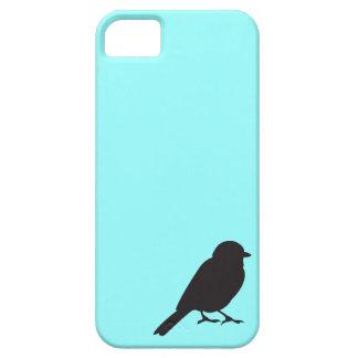 Pájaro azul elegante del trago de la silueta del funda para iPhone SE/5/5s