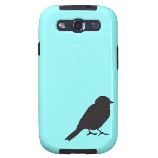 Pájaro azul elegante del trago de la silueta del g samsung galaxy s3 carcasa