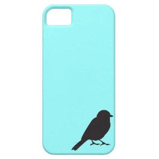 Pájaro azul elegante del trago de la silueta del g iPhone 5 Case-Mate cobertura