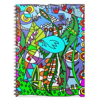 Pájaro azul en paraíso notebook