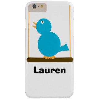 Pájaro azul en una perca funda de iPhone 6 plus barely there