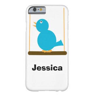 Pájaro azul en una perca funda de iPhone 6 barely there