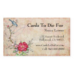 Pájaro azul en una rama plantillas de tarjetas de visita