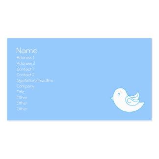 Pájaro azul en vuelo tarjetas de visita
