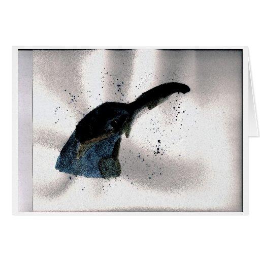 Pájaro azul felicitacion
