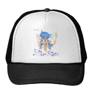 Pájaro azul gorros bordados