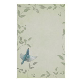 Pájaro azul hermoso papelería de diseño
