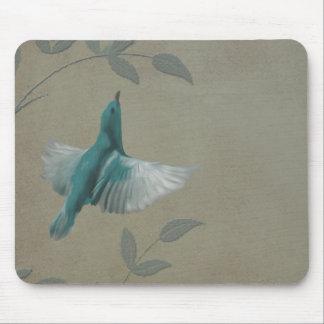 Pájaro azul hermoso alfombrillas de ratón