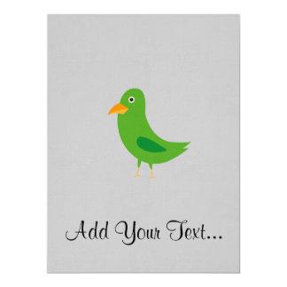 "Pájaro azul invitación 6.5"" x 8.75"""