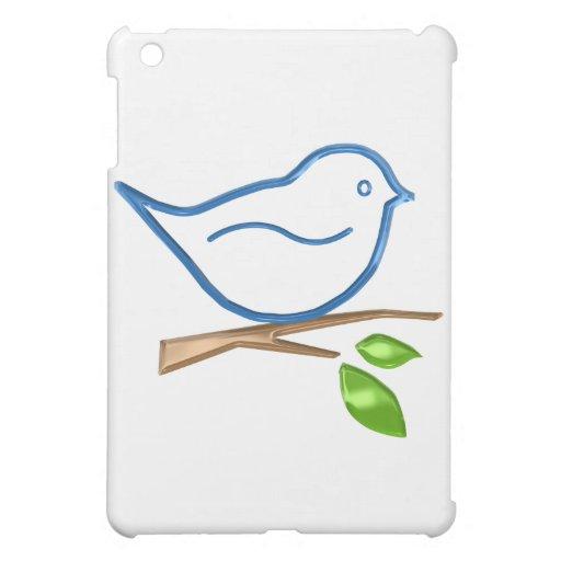 Pájaro azul lindo