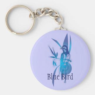 Pájaro azul llaveros