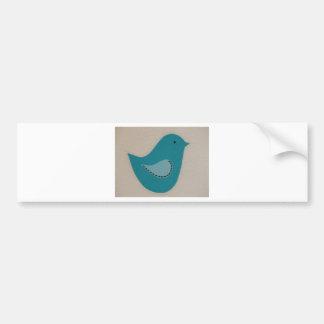 pájaro azul pegatina para auto