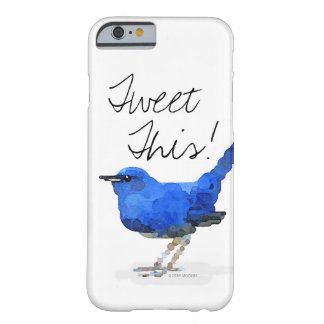 """Pájaro azul """"pío éste!"""" caso del iPhone Funda Barely There iPhone 6"""