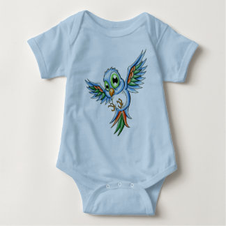 Pájaro azul polera