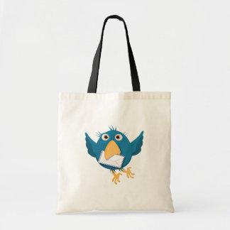 Pájaro azul que sostiene un sobre