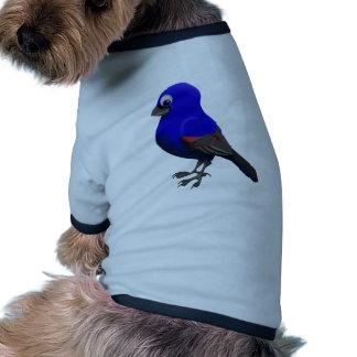 Pájaro azul camisetas de perro