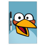 Pájaro azul tableros blancos