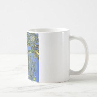 Pájaro azul taza básica blanca