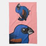 Pájaro azul toallas