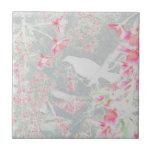 Pájaro blanco azulejos cerámicos