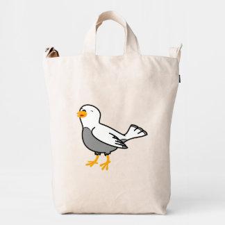 Pájaro blanco bolsa de lona duck