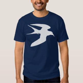 Pájaro blanco de la golondrina de mar en vuelo polera