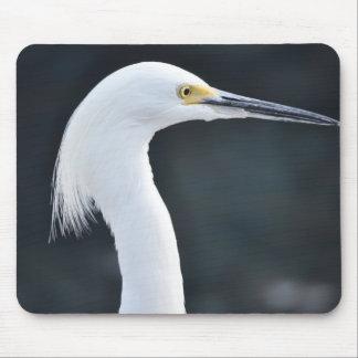 Pájaro blanco Mousepad 2 de la grúa