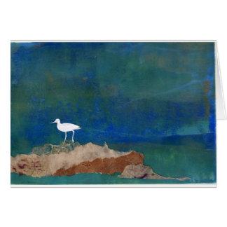 Pájaro blanco tarjeta de felicitación