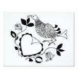 Pájaro blanco y negro invitación