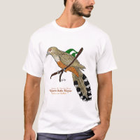 Pájaro Bobo Mayor/Puerto Rican Lizard-Cuckoo T-Shirt