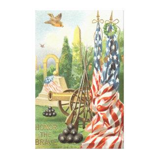 Pájaro cantante del rifle del cañón del monumento impresión en lienzo