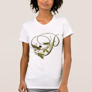 Pájaro cantante P inicial Camiseta